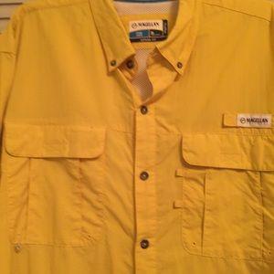 Magellan Men's XL Angler Fit Bright Yellow Shirt